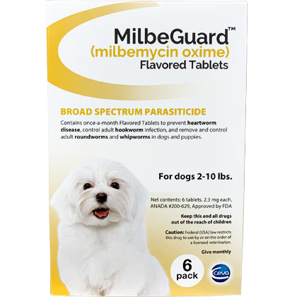 MilbeGuard Chewable Dogs 2-10 lbs (generic Interceptor)