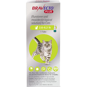 Bravecto+ Topical Solution Cats 2.6-6.2 lbs