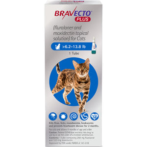 Bravecto+ Topical Solution Cats 6.2-13.8 lbs
