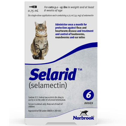 Selarid Topical Solution Cats 5.1-15 lbs (generic Revolution)