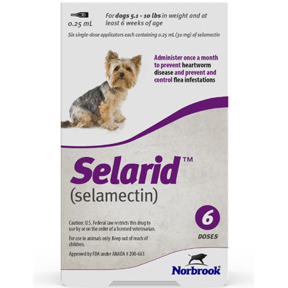 Selarid Topical Solution Dogs 5.1-10 lbs (generic Revolution)