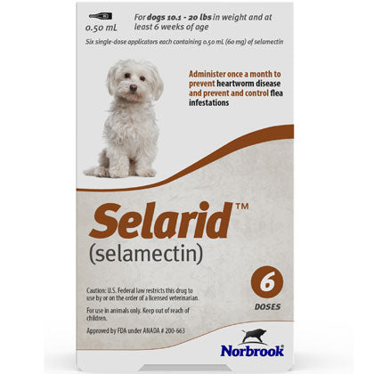 Selarid Topical Solution Dogs 10.2-20 lbs (generic Revolution)