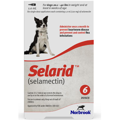 Selarid Topical Solution Dogs 20.1-40 lbs (generic Revolution)