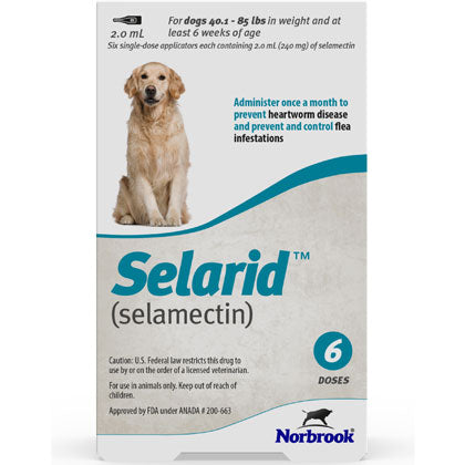 Selarid Topical Solution Dogs 40.1-85 lbs (generic Revolution)
