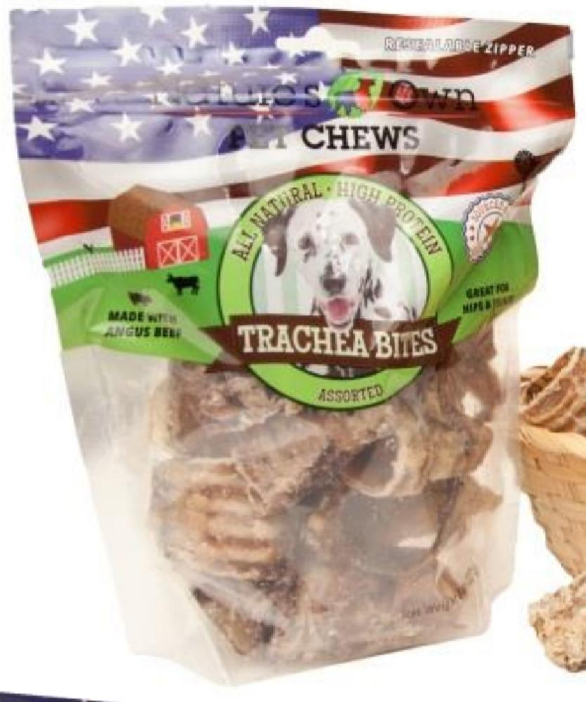 Beef Trachea Bites 8oz USA Natural Treat