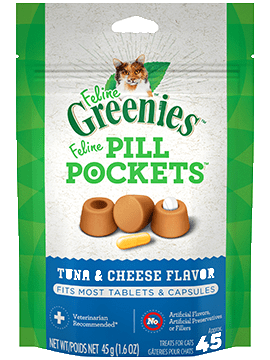 Pill Pockets Cat Tuna/Cheese 1.6oz 45ct