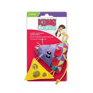 Kong Crackle & Cheese Mouse Toys 2pk