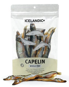 Capelin Whole Fish 2.5oz Bag, Icelandic+