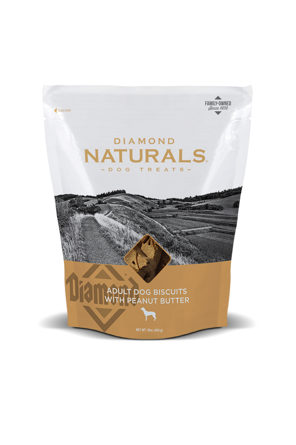 Diamond Naturals P. Butter Biscuits 16oz