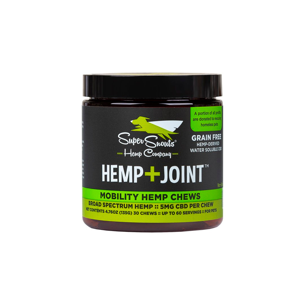 Hemp+Joint Chews 30ct Tub, Super Snouts