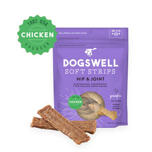 Dogswell Soft Strips Hip & Joint Chicken 12 oz