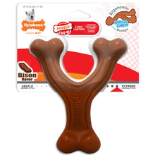 Load image into Gallery viewer, Nylabone Power Chew Wishbone Ergonomic Hold & Chew Bison Flavored
