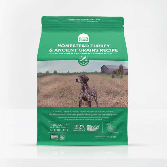 Open Farms Homestead Turkey and Ancient Grains Dry Dog Food