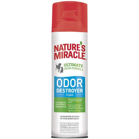 Nature's Miracle Odor Destroyer Foam 17.5 oz