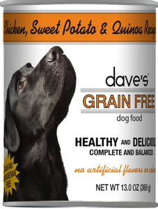 dave's Gr Free Chickn,SwP,Qu 13oz Dog