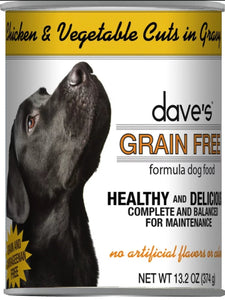 dave's Gr Free Ch Chkn V Cuts 13oz, Dog