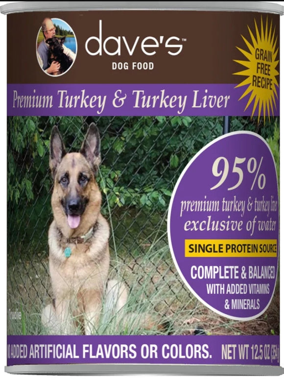 dave's 95% Premium Turkey 13oz, Dog
