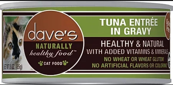 dave's Tuna Entree' in Gravy 5.5oz Cat