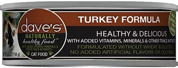 dave's Turkey Formula 5.5oz, Cat