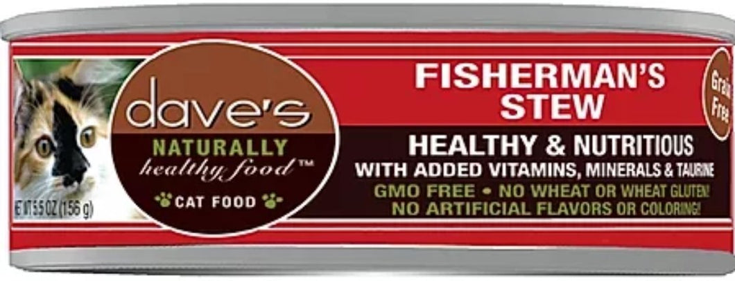 Dave's Shred Fisherman's Stew 5.5oz, Cat