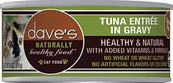 dave's Tuna Entree' in Gravy 3oz Cat