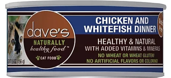 dave's Chicken Whitefish Dinner 3oz, Cat