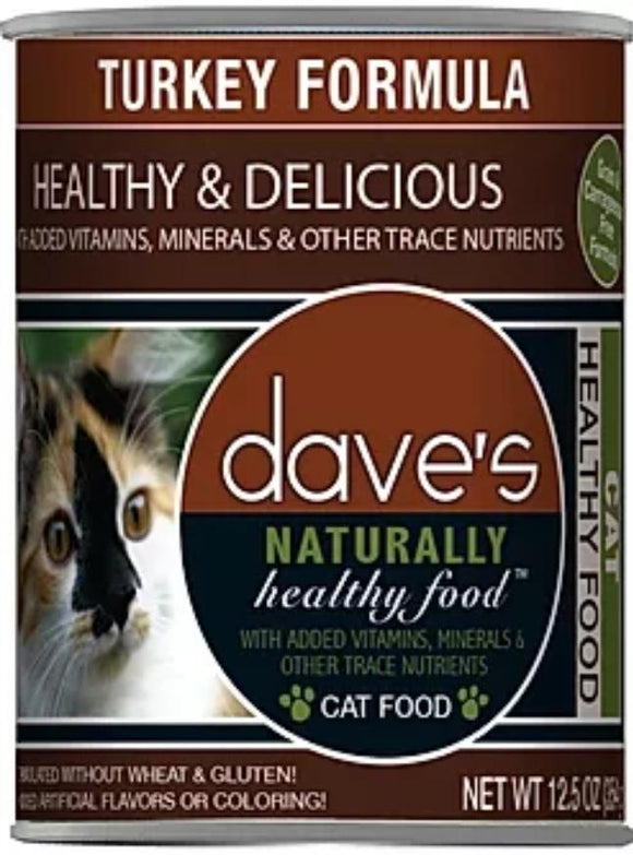 dave's Turkey Formula 12.5oz, Cat