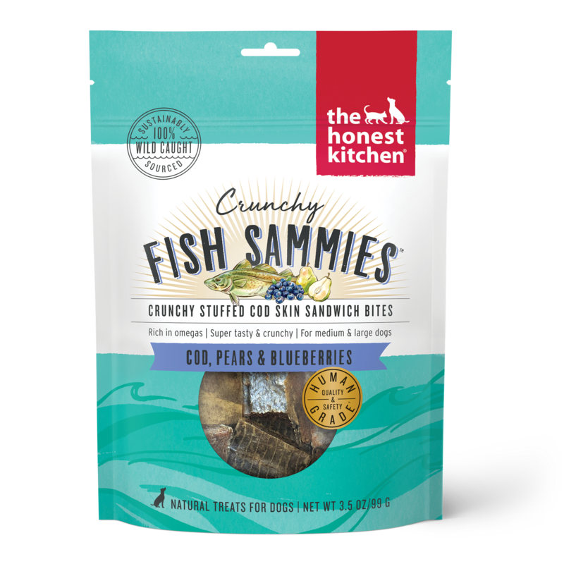 Honest Kitchen Fish Sammies Bluebrry 3oz