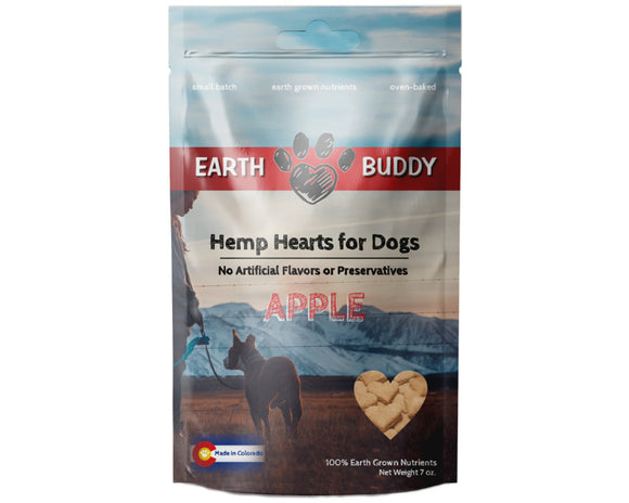 Hemp Hearts for Dogs Apple 7oz