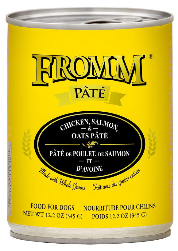 Fromm Pate Chkn/Slmn/Oats 12.2oz Dog
