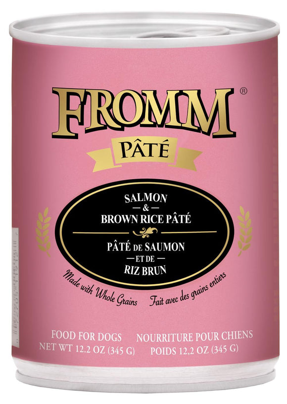 Fromm Pate Salmon Br Rice 12.2oz Dog
