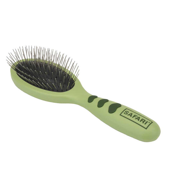 Safari Wire Pin Brush With Plastic Handle