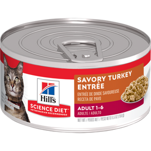 Sci Diet Cat Adult G Turkey Entree 5.5oz