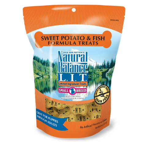 Fish/SwPotato Allergy Treats SB 8oz NatB
