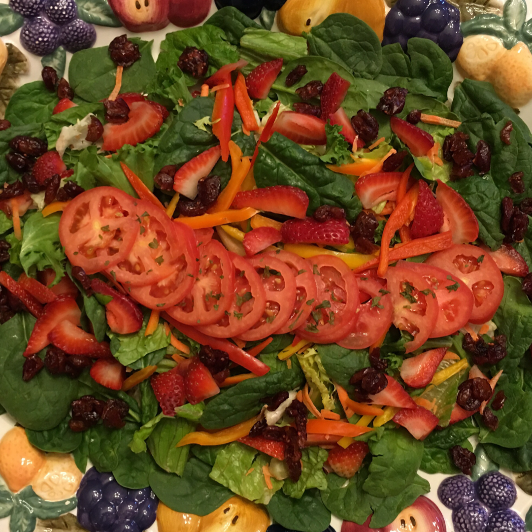 Strawberry, Spinach, and Almond Salad