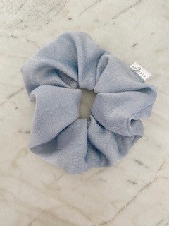 AV2 Dusty Blue Satin Scrunchie