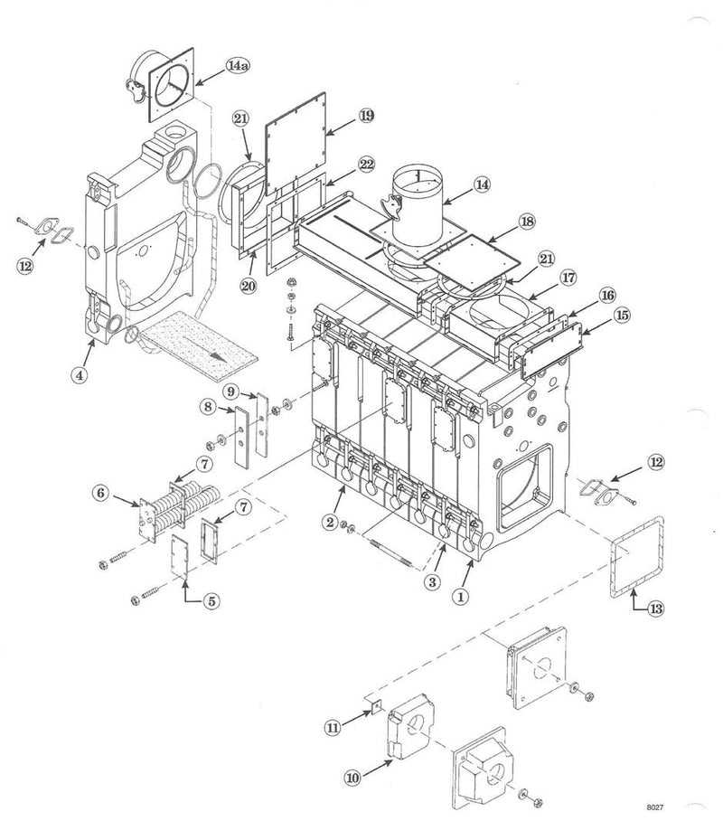 Weil McLain 80 Series Boiler Sections 315-700-100