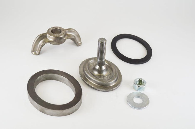 (PHH100CWR) 3 X 4, Forged Steel, Integral Bolt, Elliptical, Flat. Handhole Assembly, with Weld Ring.