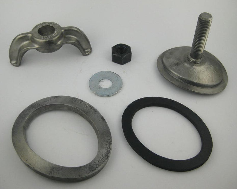 (PHH109WCPP) 3 X 4, Forged Steel, Weld Stud, Elliptical, Curved 9R. Handhole Assembly, with Patch Plate.