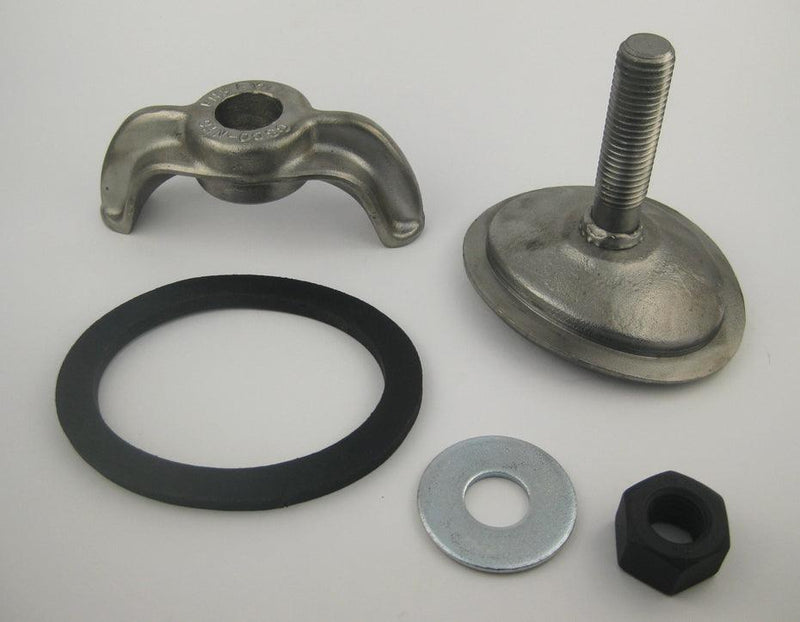 (PHH109WC) 3 x 4, Forged Steel, Weld Stud, Elliptical, Curved 9R. Handhole Assembly less Ring