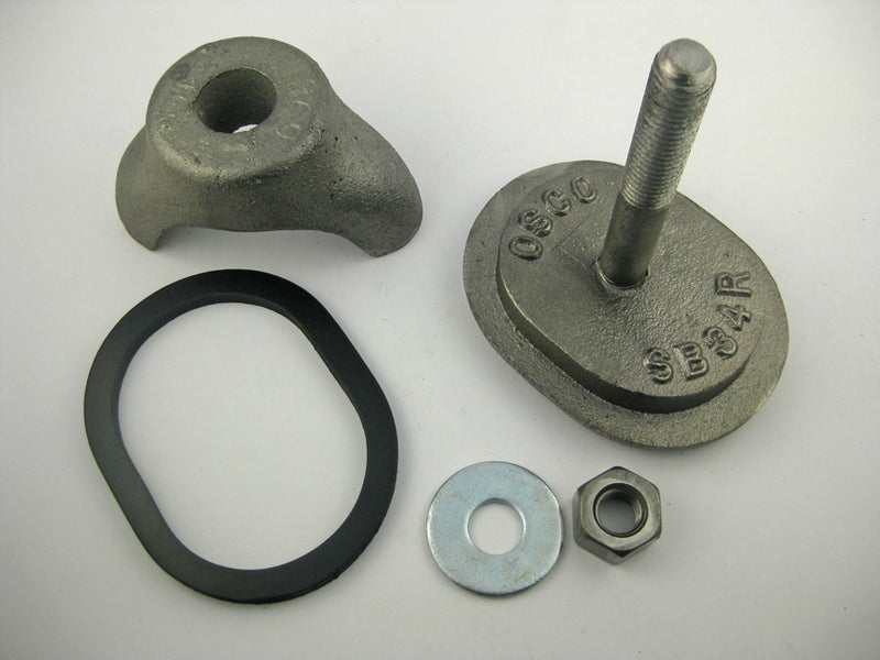 "(PHH1SP) 3 X 4, Obround, Cast Iron, Solid Bolt, Flat, ""SB34R"". Handhole Assembly, Less Ring."