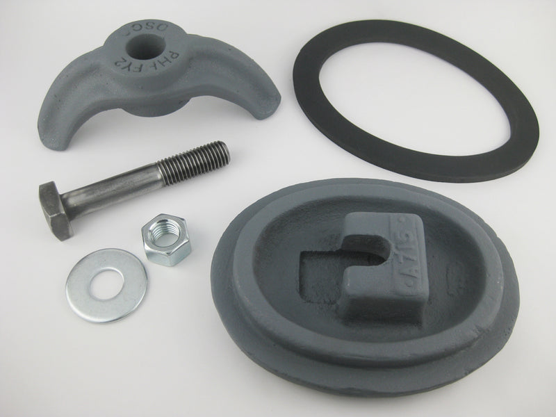 "(PHHA715C) 4-1/2"" x 6"",  Elliptical,  Cast Iron, Loose bolt,  ""A715"". Handhole Assembly, Less Ring."
