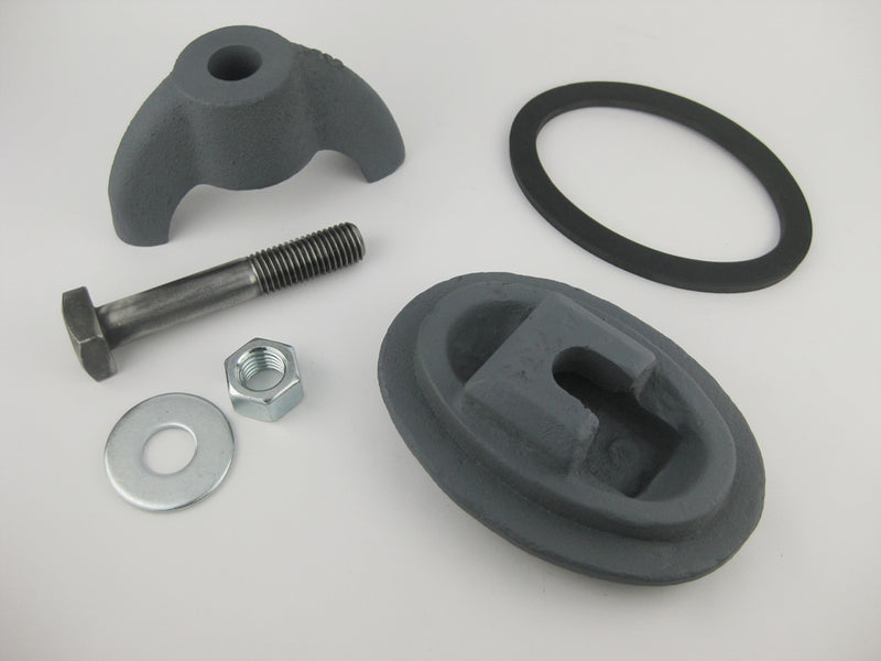 "(PHHA735C) 3"" x 5"",  Elliptical,  Cast Iron, Loose bolt, ""A735"". Handhole Assembly, Less Ring."