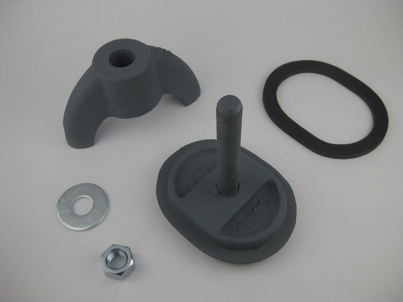 "(PHH13C) Farrar and Trefts Boiler Handhole Plate Assembly, Less Ring. 3 X 4, Obround, Cast Iron, Flat, Solid Bolt ""FT OSCO"""