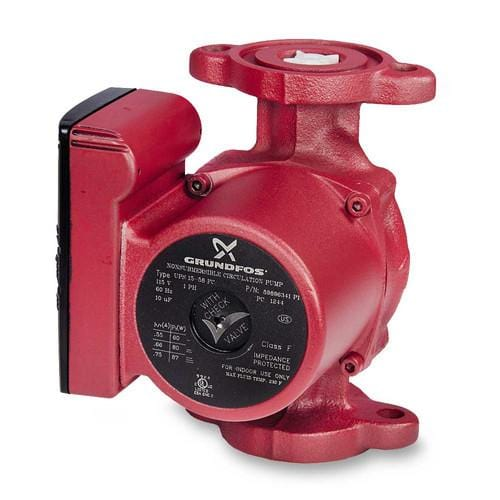 UPS15-58FC, 3-Speed Circulator Pump, 1/25 HP, 115 volt Grundfos - 59896341