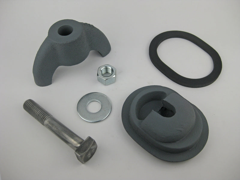 "(PHH35C) Oil City Handhole Assembly, Less Ring. 3 X 4, Obround, Cast Iron, Loose Bolt, ""W364"""