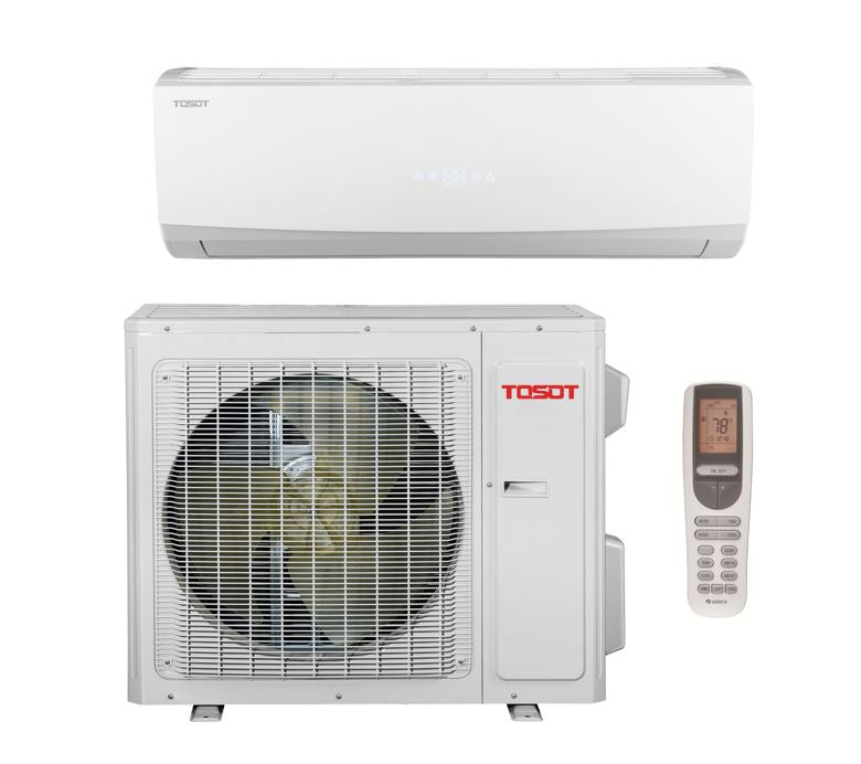 TOSOT 12000 BTU 16 SEER Single Zone Minisplit Heat Pump System 230V