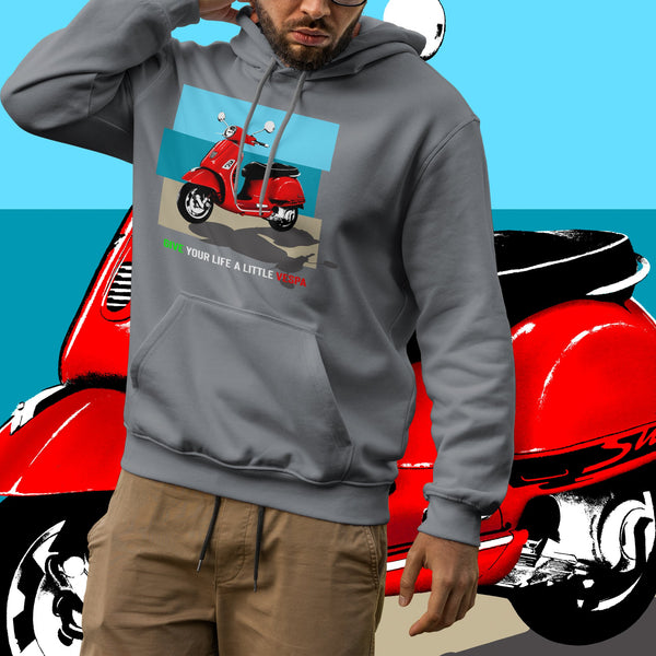 Vespa. Men's hooded sweatshirt