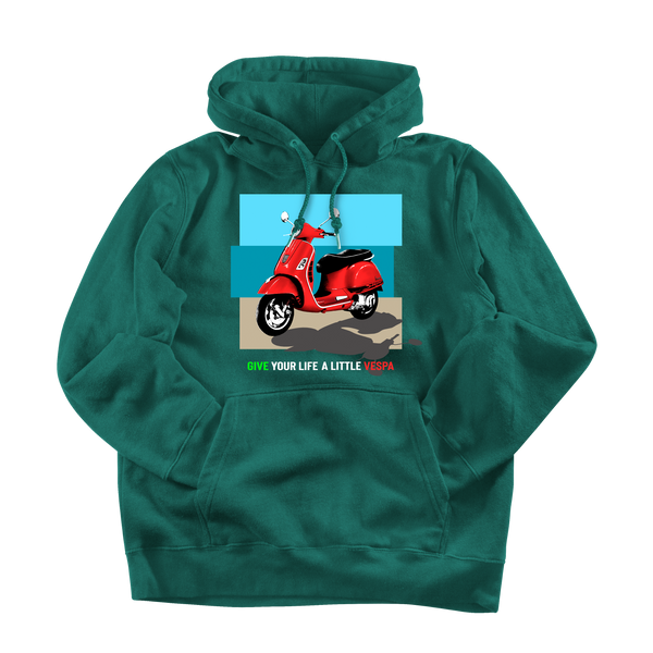 Vespa. Women's hooded sweatshirt