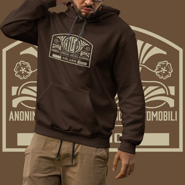 Alfa Romeo vintage logo. Men's hooded sweatshirt